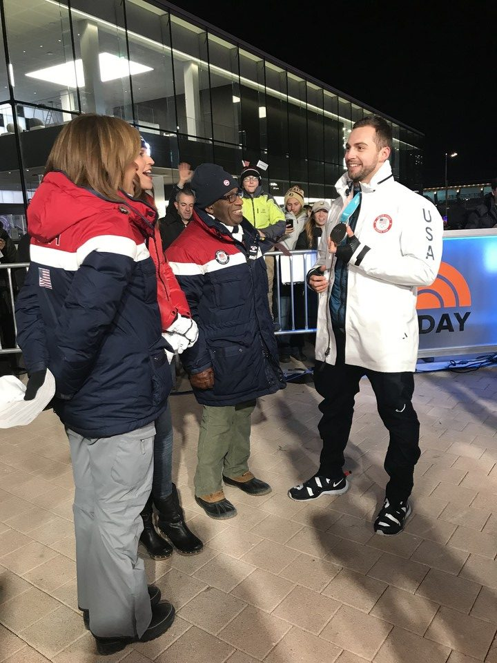 Chris Mazdzer on the Today Show