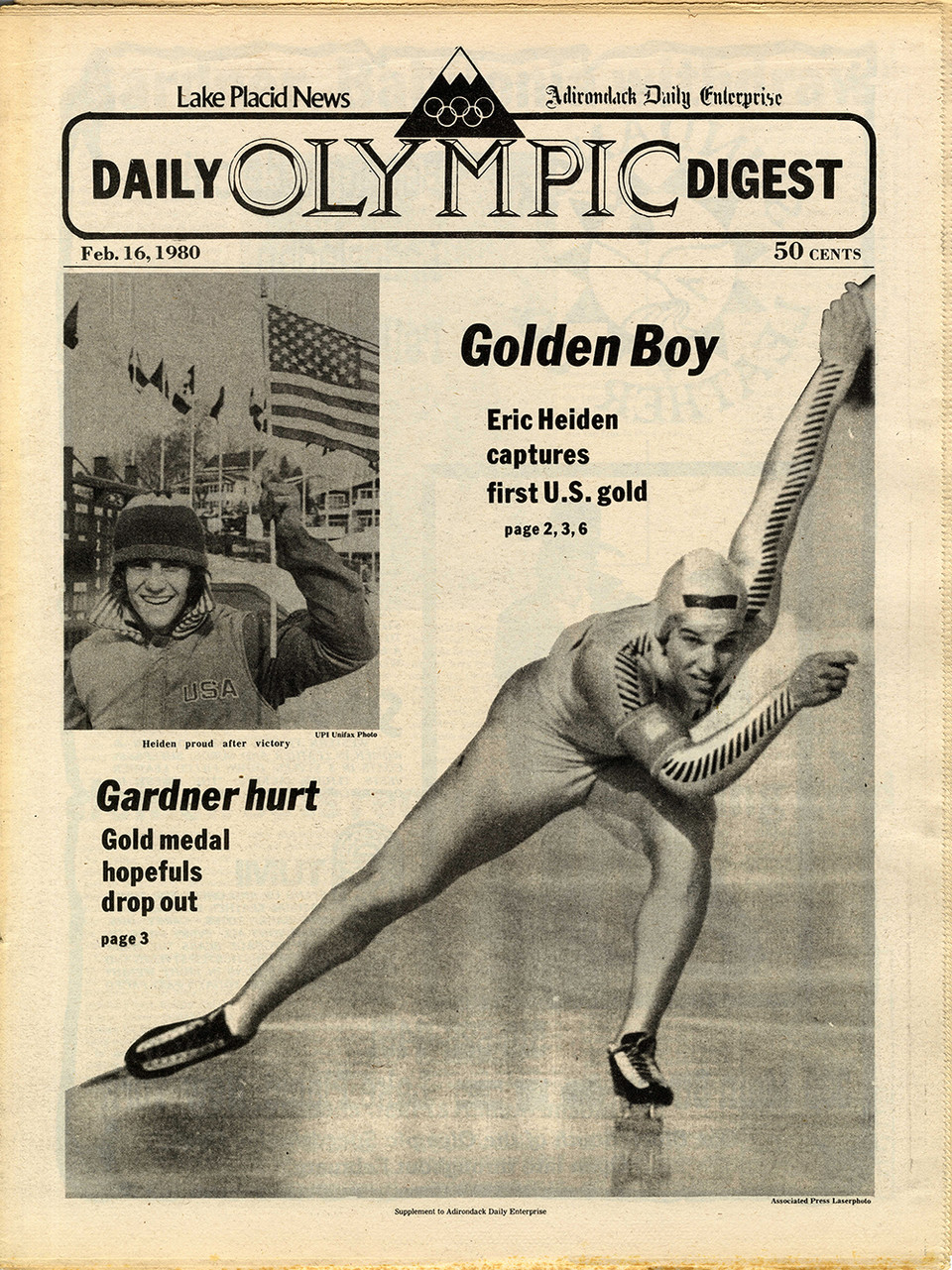 Cover of Lake Placid News on February 16, 1980