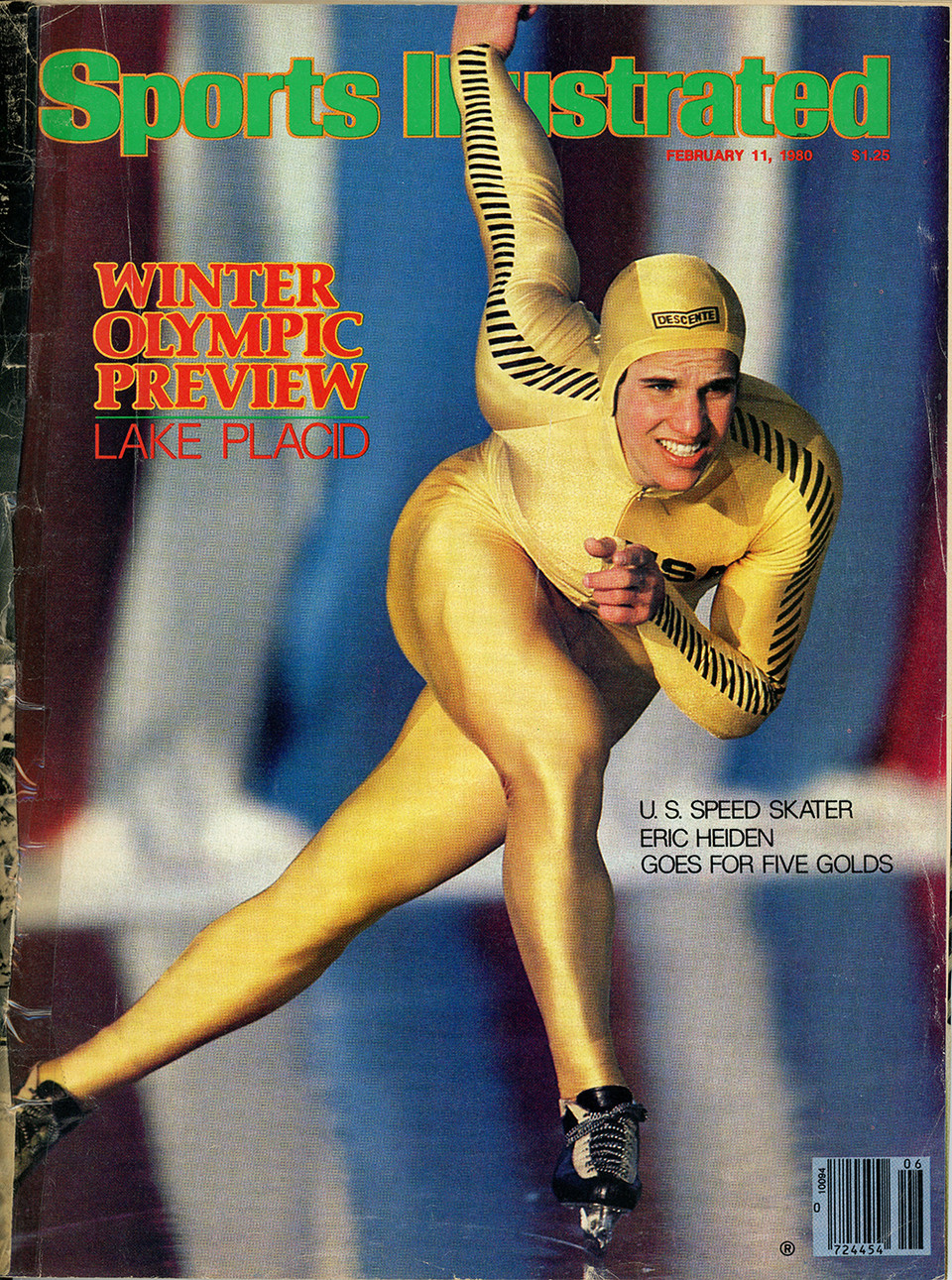 Heiden on the cover of Sports Illustrated prior to the 1980 Games