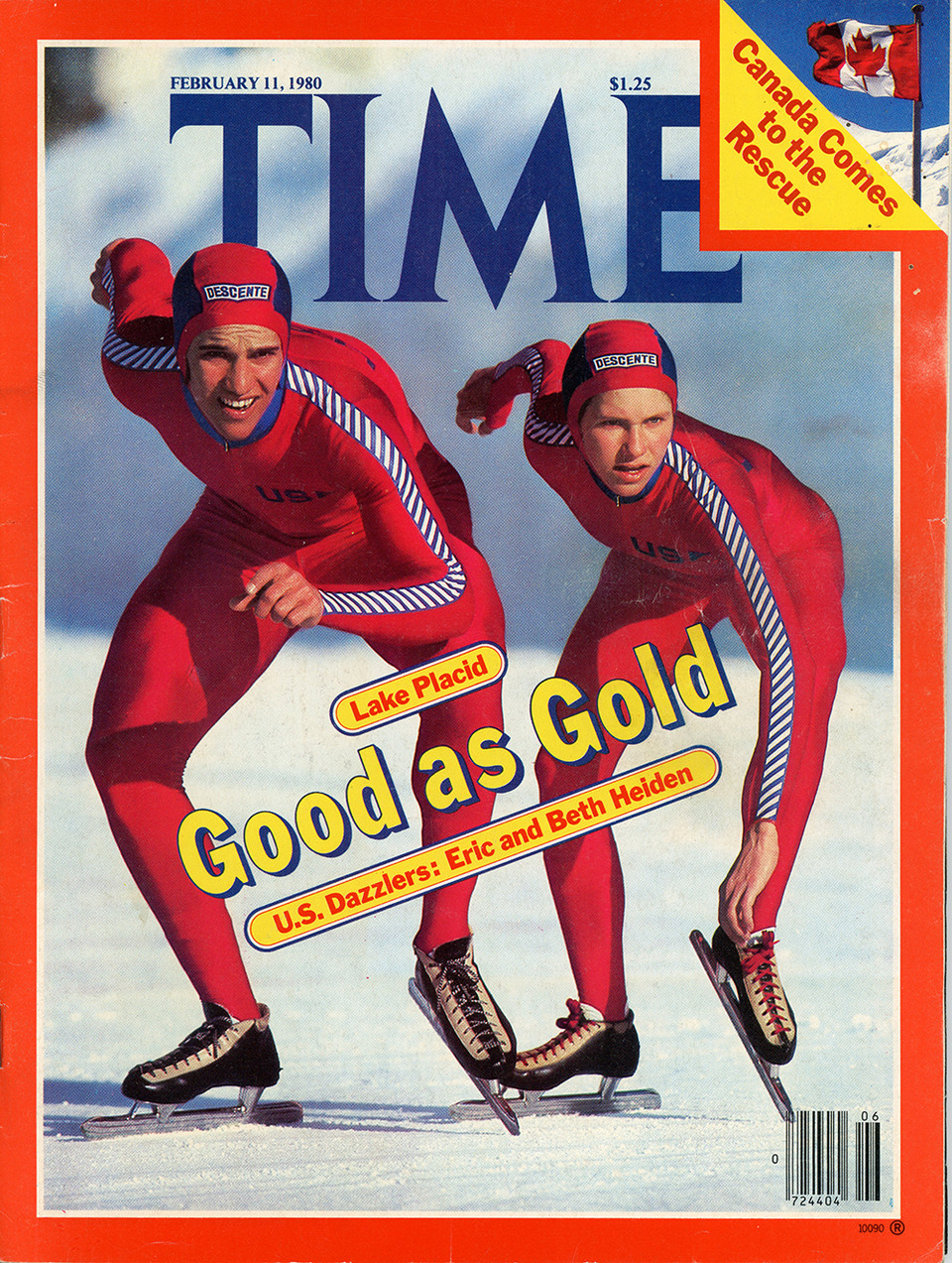Eric and Beth Heiden on the cover of Time magazine in February 1980