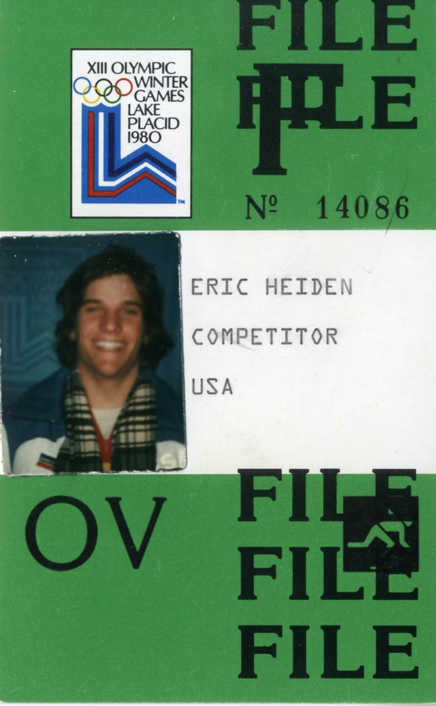 Olympic Credential for the 1980 Games