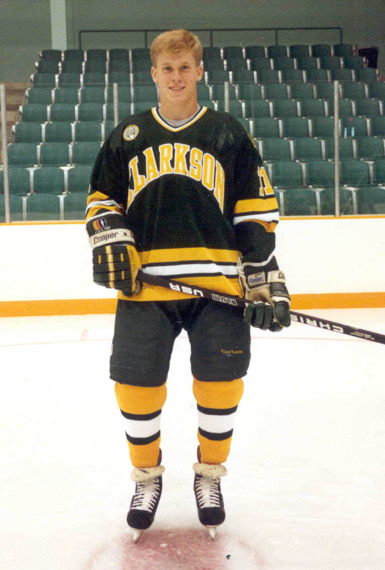 Todd Marchant Clarkson wearing uniform on the ice