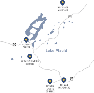 Map Olympic Sites