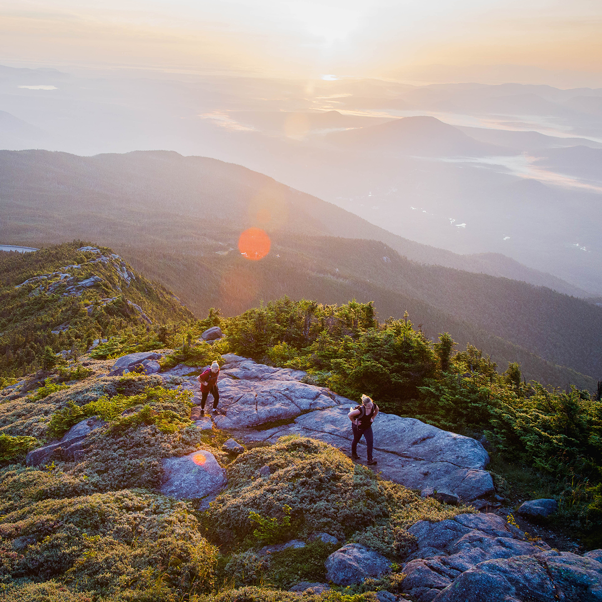 Hiking at the Summit of Whiteface