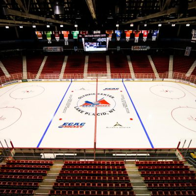 New Painted ECAC Ice for Tournament