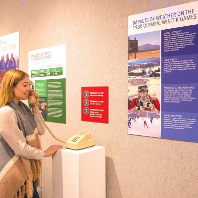 Exhibit at the Lake Placid Olympic Museum