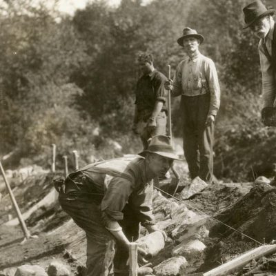 Constructing Bobsled Track in late 1920's