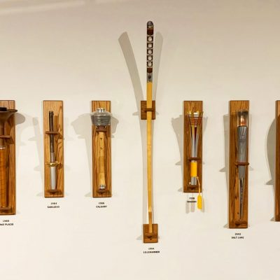 Lake Placid Olympic Museum Torch Wall