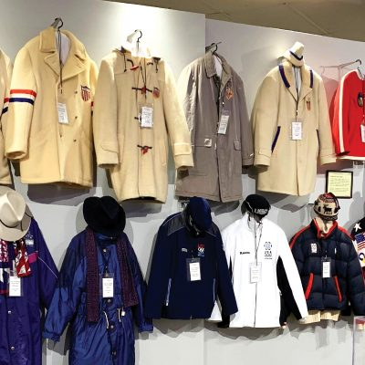 Coats in the Lake Placid Olympic Museum